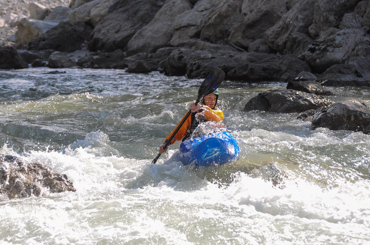 Aaron im Wildwasser